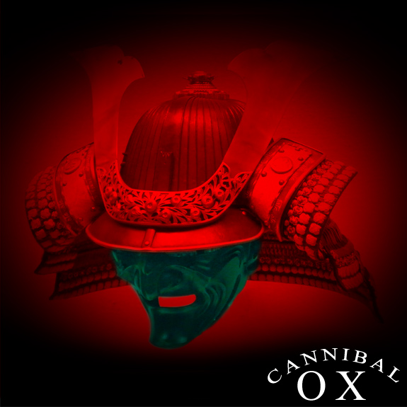 Album cover for Blade Of The Ronin by Cannibal Ox made by whatwentrightwith.com featuring an image of a Samurai Mask