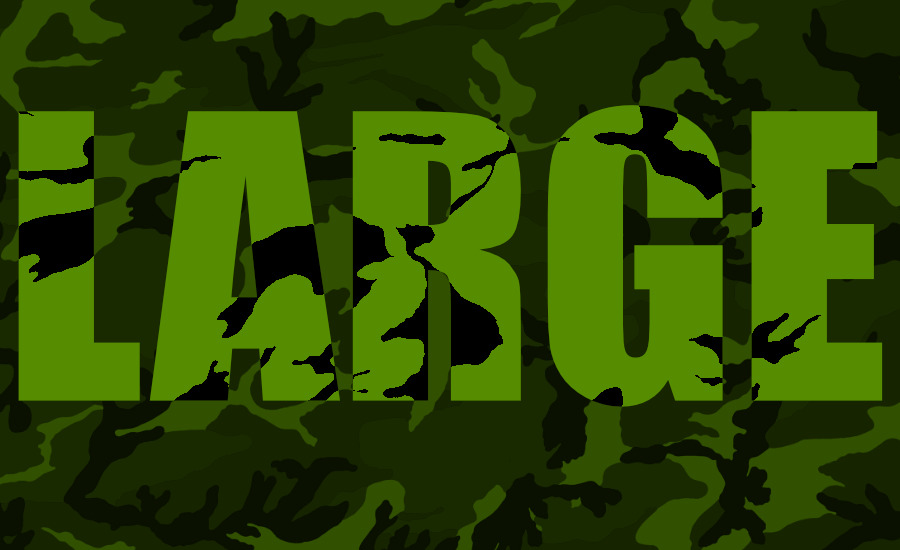 What Went Right With... Camouflage Large Clique? A camouflage pattern with the text LARGE