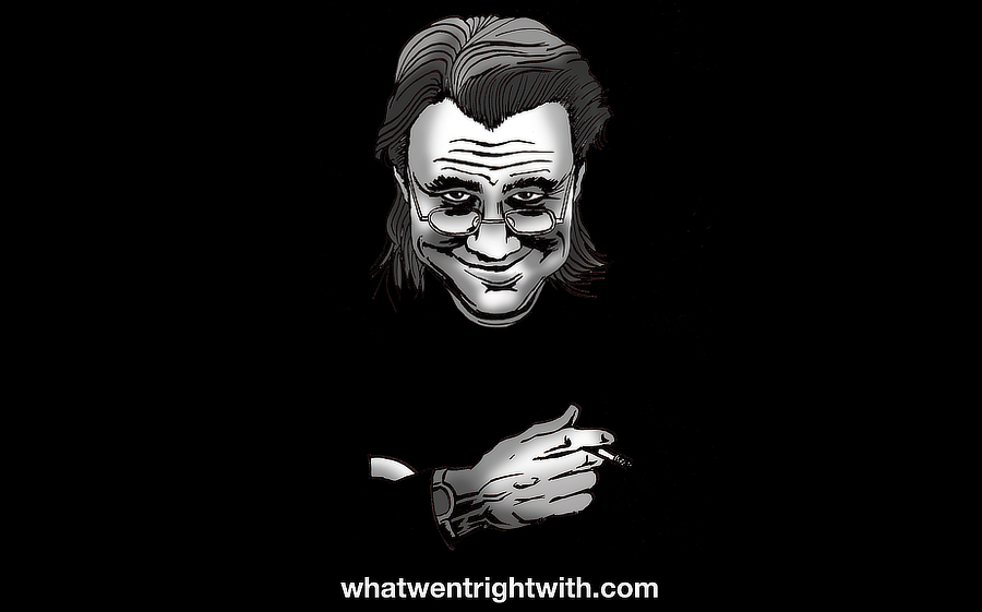 A caricature of the stand-up comedian Bill Hicks by whatwentrightwith.com