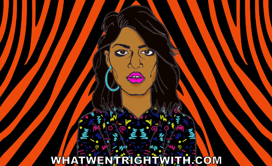 A caricature of M.I.A. by whatwentrightwith.com
