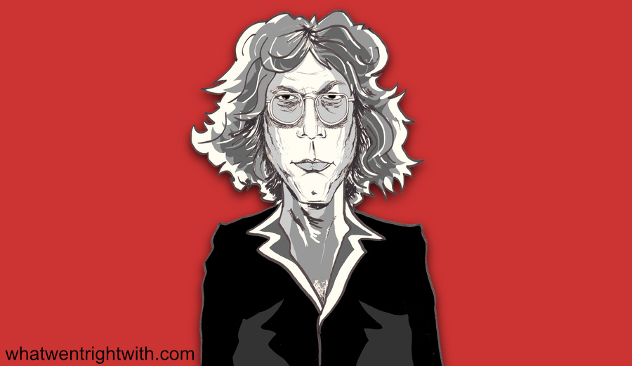 Caricature of Warren Zevon by whatwentrightwith.com