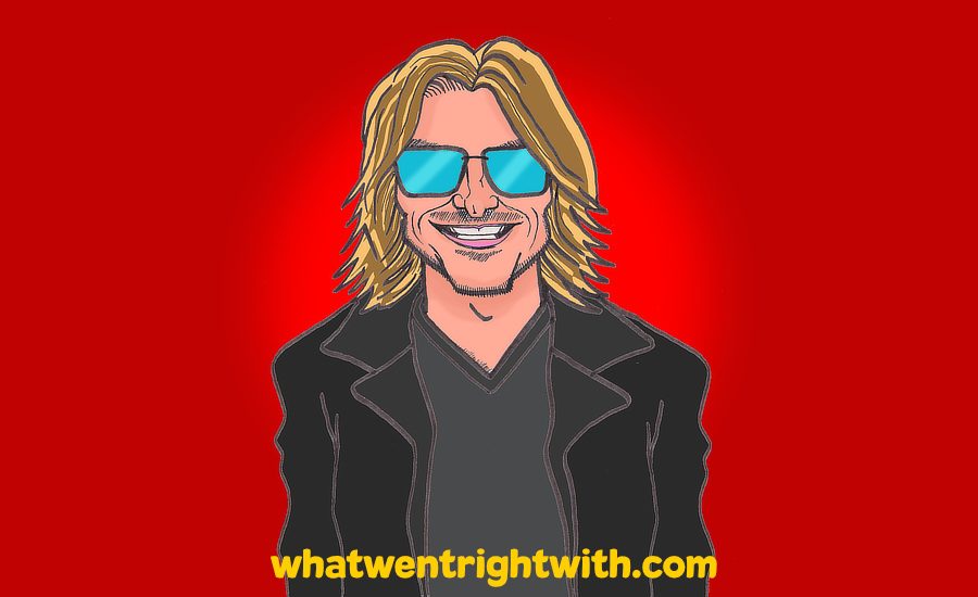 Caricature of the late stand-up comedian Mitch Hedberg by whatwentrightwith.com