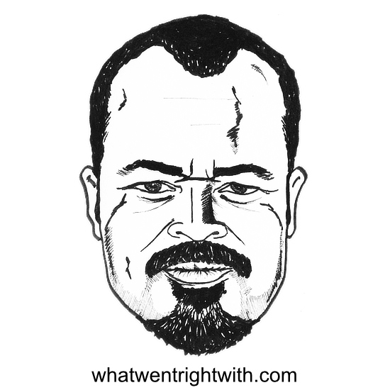 Caricature of Jeffrey Wright by whatwentrightwith.com