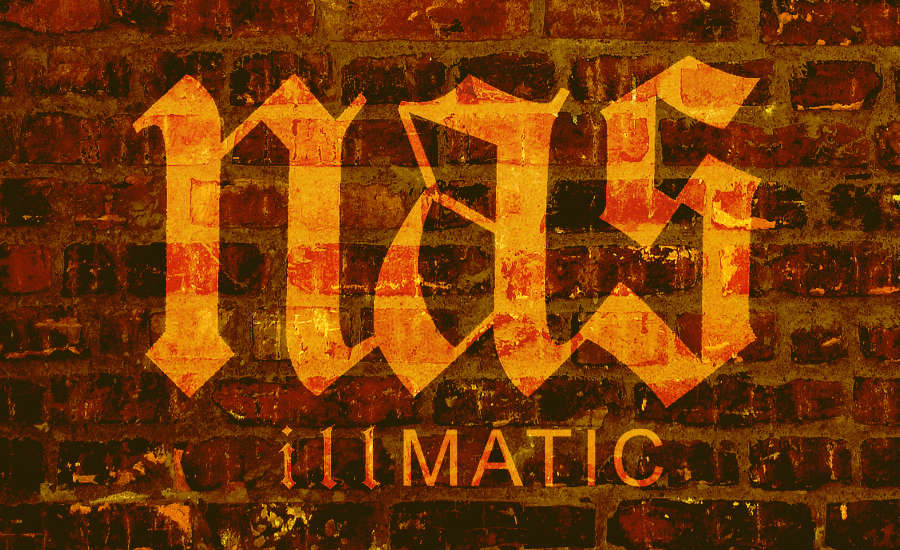 What Went Right With... Illmatic by Nas? An image of a brick wall with the word Nas on it to accompany the review of the classic Hip-Hop albym by whatwentrightwith.com