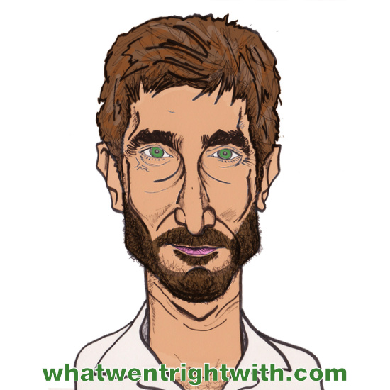 A caricature of Sharlto Copley by whatwentrightwith.com