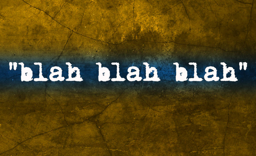 What Went Right With... Blah Blah Blah by Blahzay Blahzay. The title of the album over a concrete background by whatwentrightwith.com