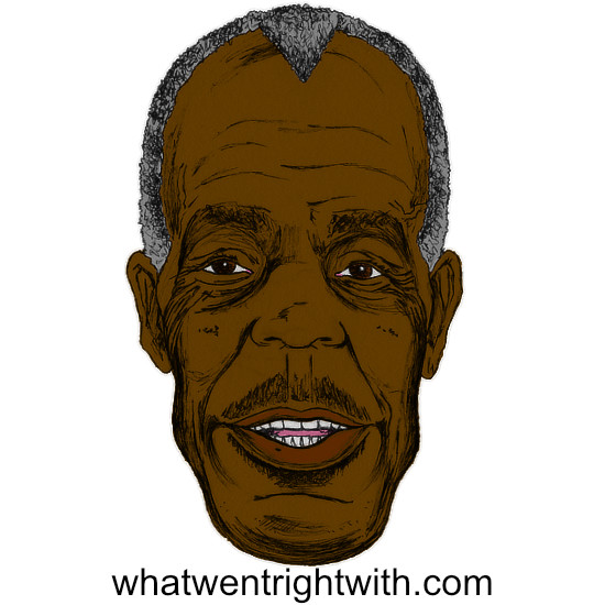 A caricature of Danny Glover by whatwentrightwith.com