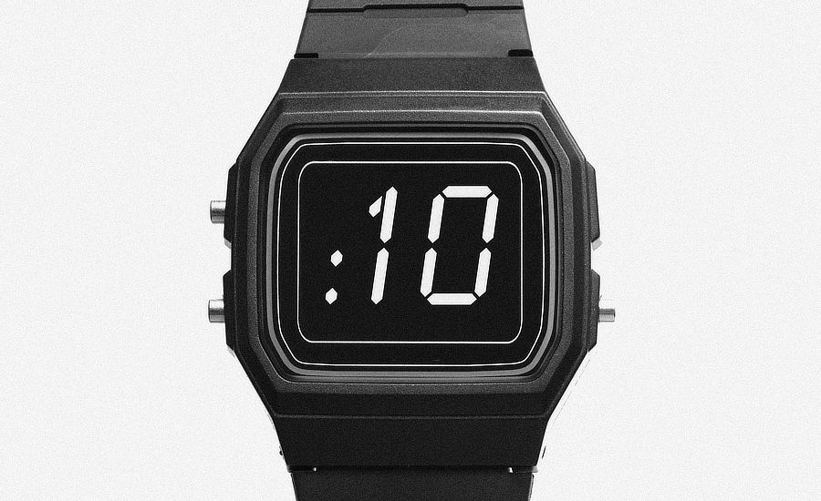 What Went Right With... The 1984 Film Trancers? An image of the time-slowing watch counting down 10 seconds by whatwentrightwith.com