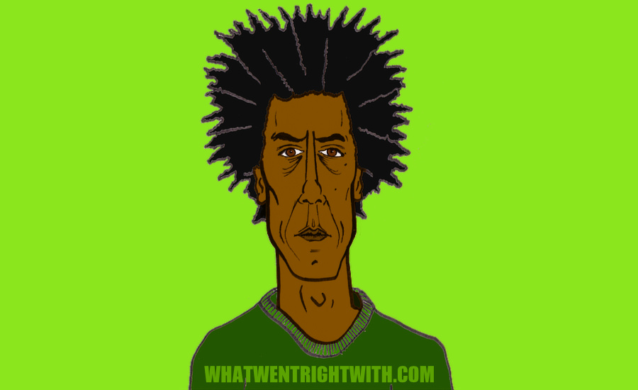 A caricature of Andre Royo by What Went Wrong Or Right With...? For whatwentrightwith.com