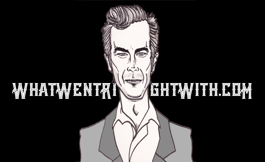 A caricature of James D'Arcy by What Went Wrong Or Right With...? for whatwentrightwith.com