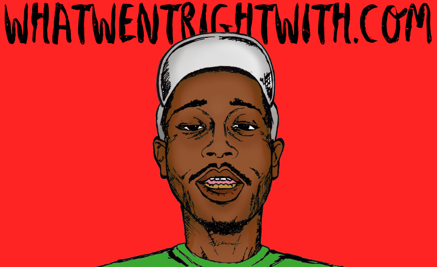 A caricature of Cousin Stizz by What Went Wrong Or Right With...? for whatwentrightwith.com
