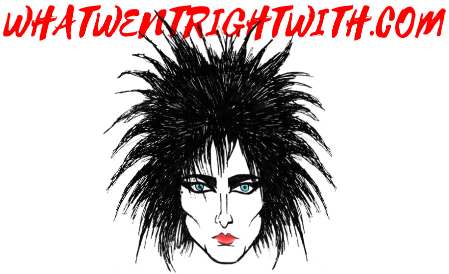 A caricature of Siouxsie Sioux by What Went Wrong Or Right With...?