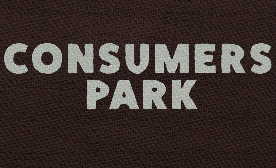 A review of Consumers Park by Chuck Strangers. An image of a canvas with Consumers Park written on it