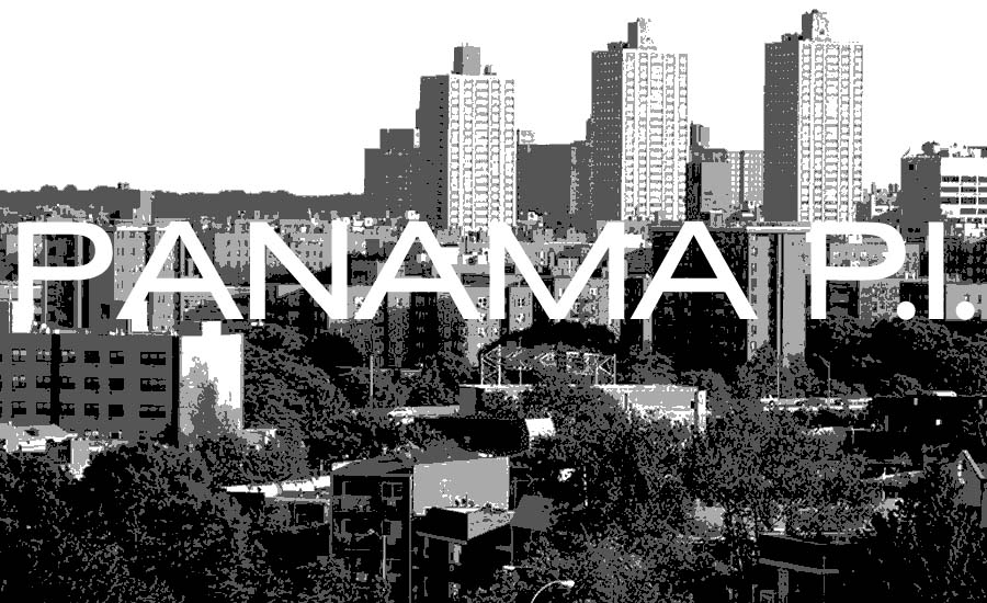 An image of Jamaica Queens New York with the text Pamama P.I. over it