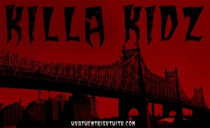 An image of the Queensboro Bridge with the name Killa Kidz over it