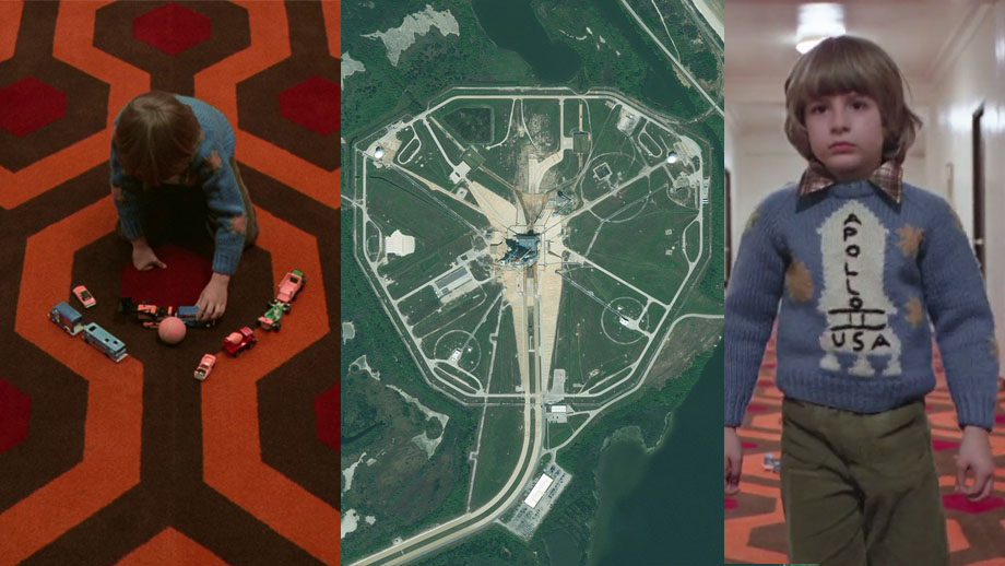 Comparison of the carpet pattern in The Shining and Kennedy Space Center