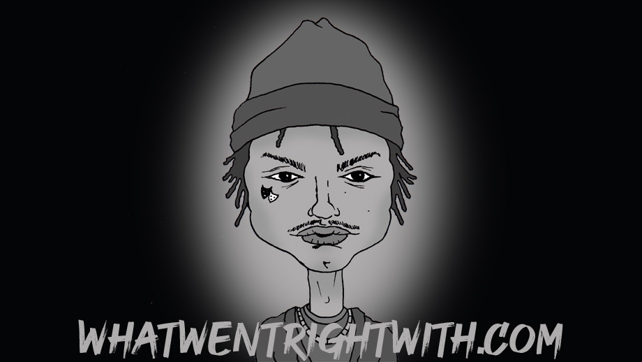 A caricature of rapper and producer Night Lovell