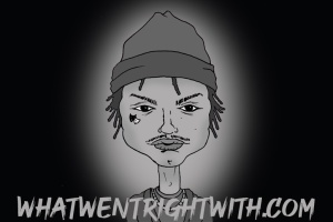 A caricature of Night Lovell