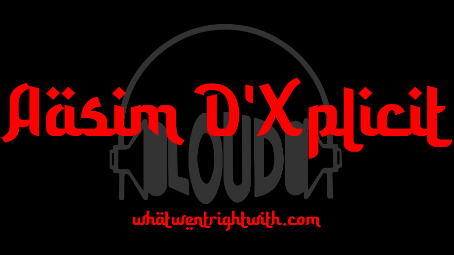 Aasim D'Xplicit over the Loud Records logo