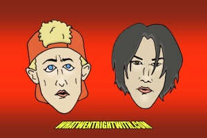 Caricatures of Bill And Ted in Bogus Journey