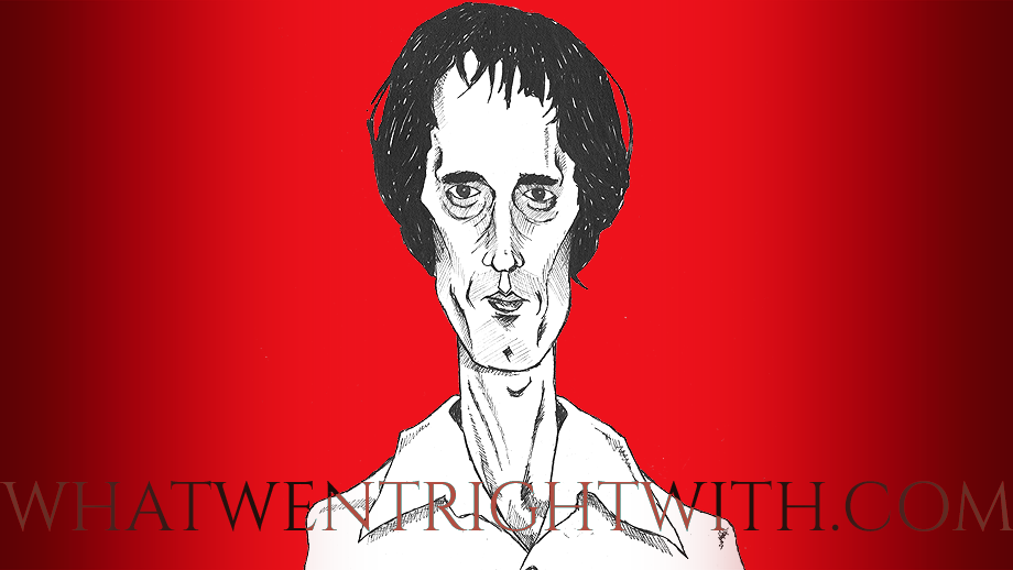 A caricature of Dario Argento by What Went Wrong Or Right With...?
