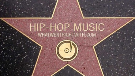 A hollywood Walk Of Fame star with Hip-Hop music written on it
