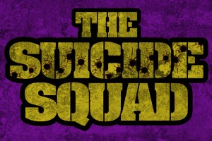 Purple and yellow Suicide Squad logo