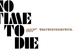 No Time To Die font logo
